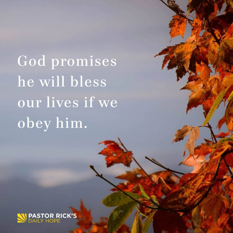 Six Biblical Truths about God's Blessing - Pastor Rick's